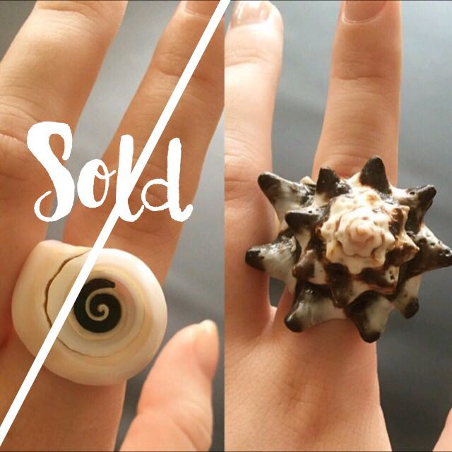 Rare Fighting Conch Shell Ring