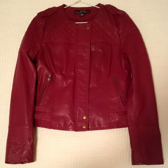 Red Genuine Leather Jacket