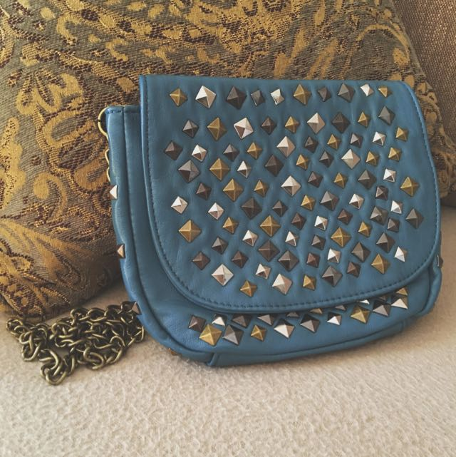 Royal Blue Studded Purse
