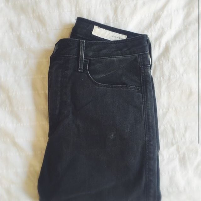 Sass & Bide Charcoal/Black Skinny Jeans