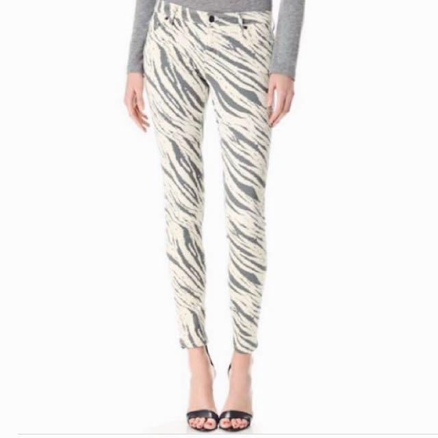 Sass & Bide Jeans Zebra Print