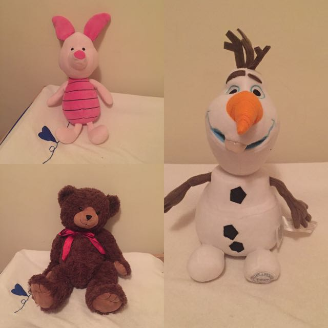 Soft toys Bear, Olaf, Piglet