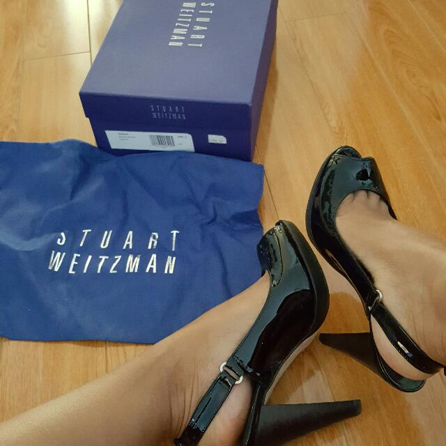 Stuart Weitzman Peep toe Slingback ***Price Reduced