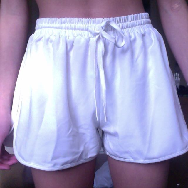 White Stretchy Shorts