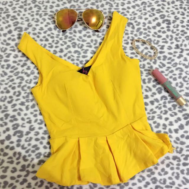 Yellow Classy Crop Top