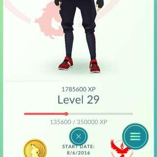 Pokemon Go Account Level 29