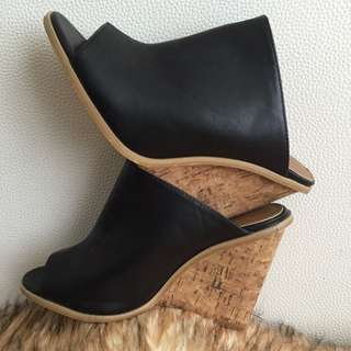 **Reserved**Black Wedges Size 8