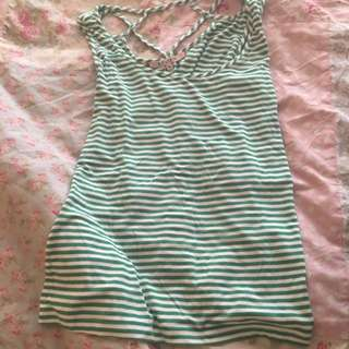Size 10 Review Striped Singlet Top