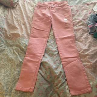 GUESS Faded Pink Skinny Jeans