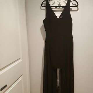 Urban Outfitters Sparkle And Fade Dress With Floor Length Chiffon Detail Size 8