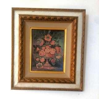 Flowers In Vase Oil Painting