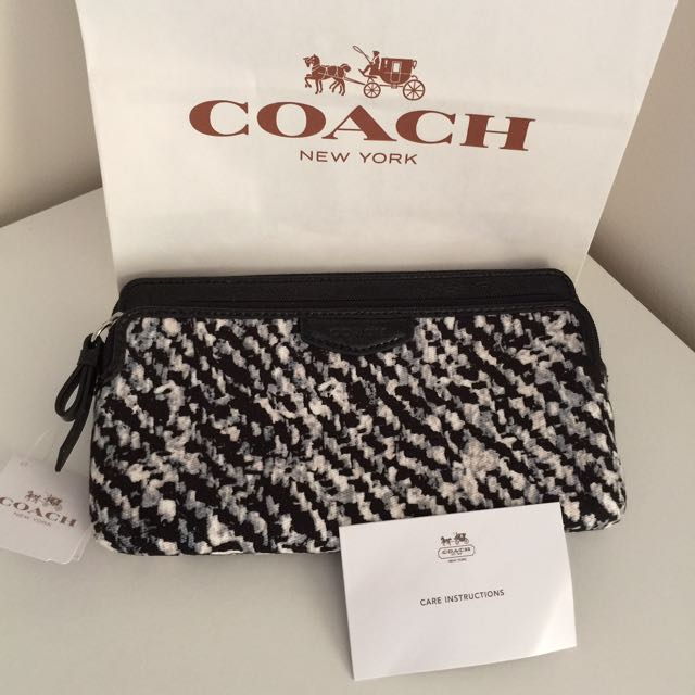 100% Authentic Coach Pouch with strap holder