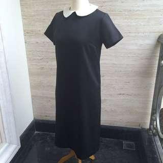 60's Black Dress Peter Pan Collar