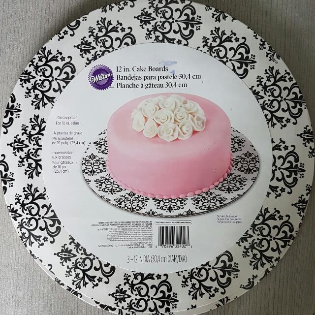 12 Inch Cake Board X 2 Pc