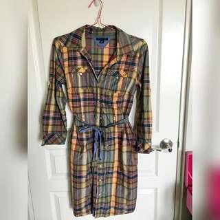 Used Tommy Hilfiger Shirt Dress Small