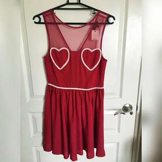 Brandnew Topshop Sleeveless Heart Dress