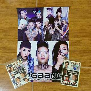 ALIVE Poster + 2 Sets of Stickers (BIGBANG)