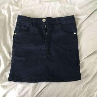 Size 8 Navy Blue Mini Skirt