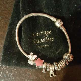Pandora Brackett with charms