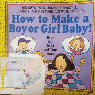 how to make boy or girl baby