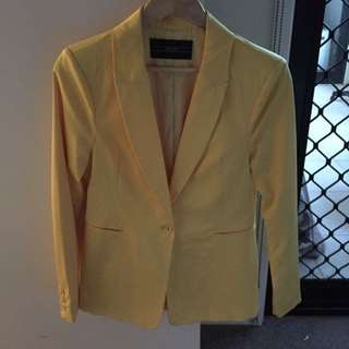 Yellow Formal Blazer