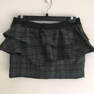 Zara 設計格子窄裙