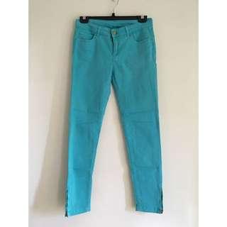 Zara 綠色色褲