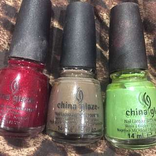China Glaze Nail Polish X3