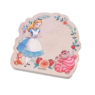 JAPAN DISNEYSTORE , JAPAN IMPORTED : Sticky Pad Series: Alice In Wonderland Flower sticky memo pad