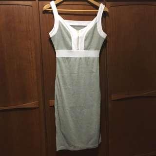 Grey Zip Dress (M)