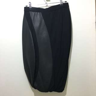 Claude Maus Leather Skirt XXS