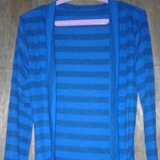 Preloved Blue Striped Sweater