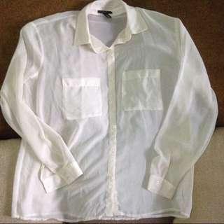 Forever 21 OFF WHITE Pocket Shirt
