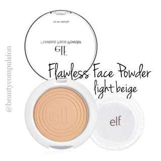 NEW INSTOCK ELF Flawless Face Powder Light Beige Shade