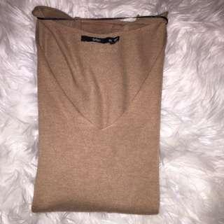 Sportsgirl Long Sleeve Camel Knit