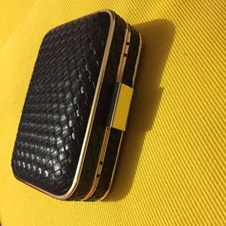 Small Black And Gold Clutch