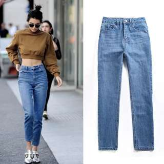 [PO DS09] Mom Jeans Vintage Retro High Waist Denim Pants