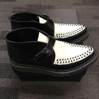SAINT LAURENT 聖羅蘭 黑白 短靴 8成新 41號鞋
