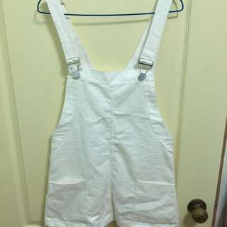 白色牛仔吊帶裙