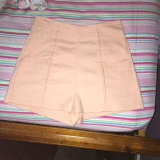 Cute Pink Salmon High Waisted Shorts Size 8