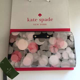 100% Authentic Kate Spade Long Zip wallet