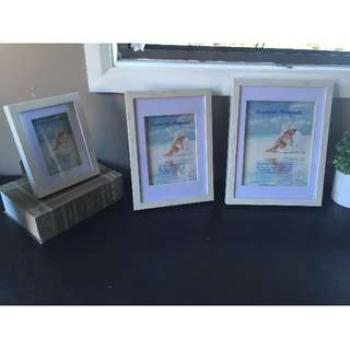 3 PACK TIMBER PICTURE FRAMES