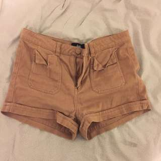 Size 10 Brown Mid Rised Shorts