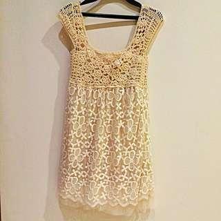 Cream Rajut Dress