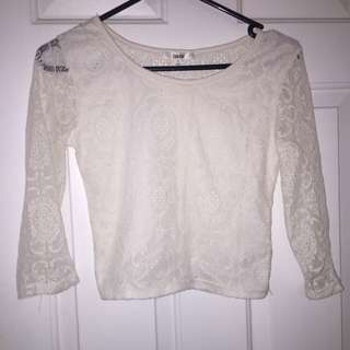Long Sleeved Mid Rise Shirt Size S