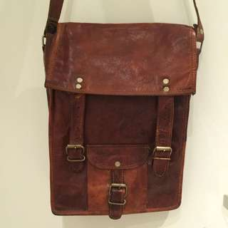 Vintage British Satchel - 100% Real Cow Leather