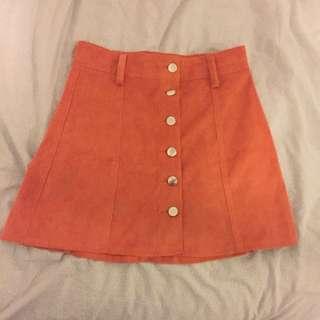 Size 8 Orange Skirt From Mink