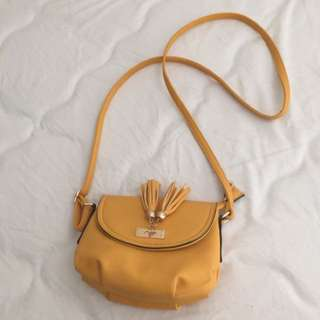 Yellow Curvy Satchel