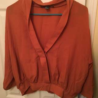 Forever 21 Rust Coloured Blouse