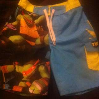 Size 3 Ninja Turtle Board Shorts